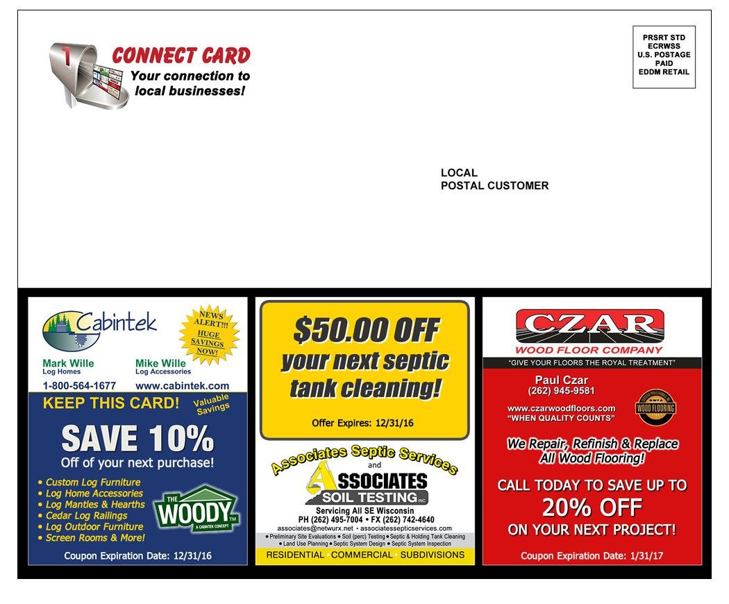 Affordable Direct mail Business Advertising Wisconsin